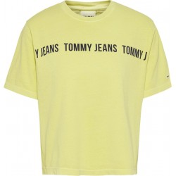 Cropped fit t-shirt with logo tape by Tommy Jeans