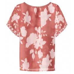 Satin top with floral print by Yaya
