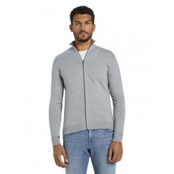 Cardigan with stand-up collar by Tom Tailor