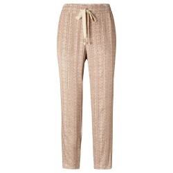 Printed woven jogger trousers by Yaya