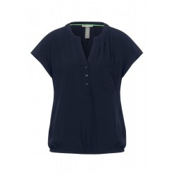 Bluse in Unifarbe by Street One