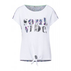 T-shirt avec impression partielle by Street One