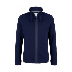 Sweat jacket with stand up collar by Tom Tailor
