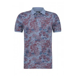 Poloshirt mit Blumenmuster by State of Art