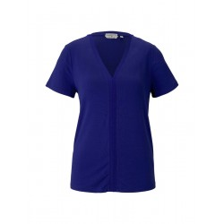 T-shirt with ribbed cuffs by Tom Tailor