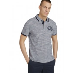 Meliertes Poloshirt by Tom Tailor