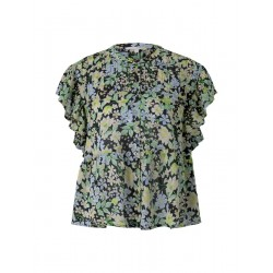 Blouse with flounce sleeves by Tom Tailor Denim