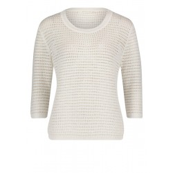 Lochstrick-Pullover by Betty & Co