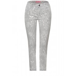 Casual fit trousers with print by Street One
