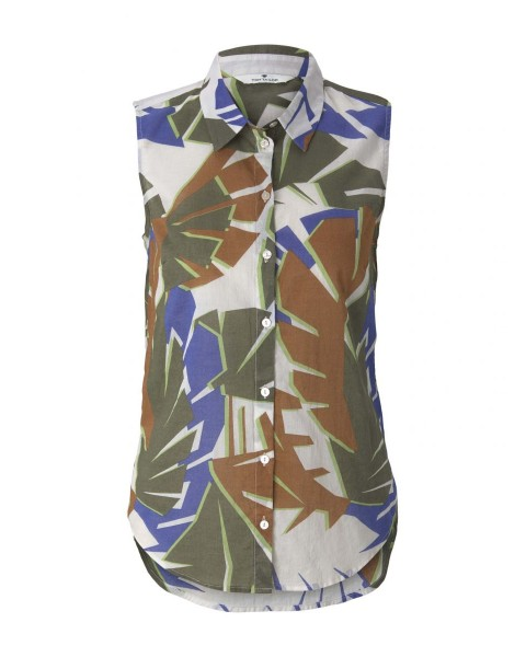 Blouse chemise sans manches by Tom Tailor
