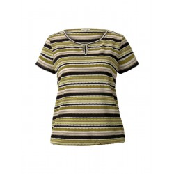 T-shirt with a striped structure by Tom Tailor