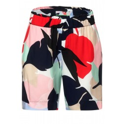 Loose fit shorts with print by Street One