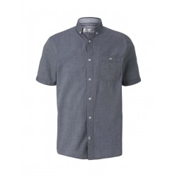 Slim Fit: chemise à manches courtes by Tom Tailor