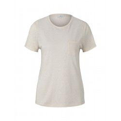 T-shirt with chest pocket by Tom Tailor