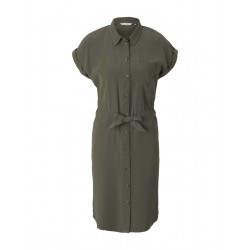 Utility blouse dress with tie detail by Tom Tailor