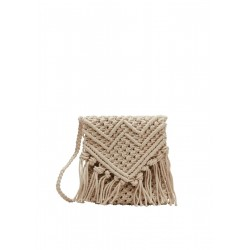 Macramé bag with fringes by s.Oliver Red Label