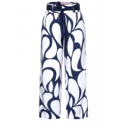 Loose fit trousers with print by Street One