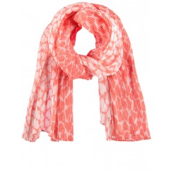 Pleated scarf with heart print by Samoon