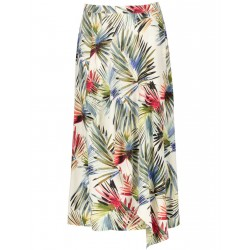 Wrap skirt with colorful palm leaves print by Taifun