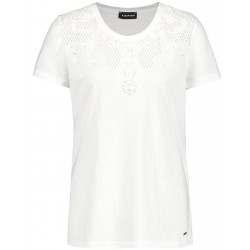 T-shirt with eyelet embroidery by Taifun