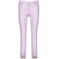 Skinny jeans with fringed edges by Taifun