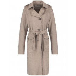 Trench-coat au toucher velours by Gerry Weber Collection