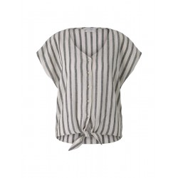 Short sleeve blouse with linen by Tom Tailor Denim