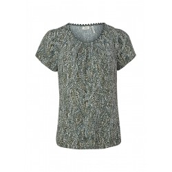 Blouse shirt with laid pleats by s.Oliver Black Label