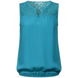 Blouse top with lace detail by Cecil