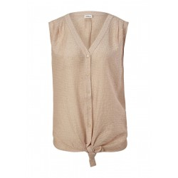 Blouse top with knot detail by s.Oliver Black Label