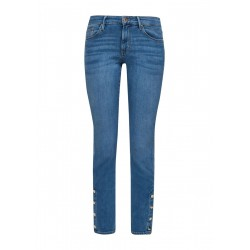 Slim Fit: 7/8-Jeans mit Knopfleiste by s.Oliver Red Label