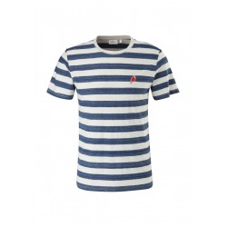 Striped shirt with embroidery by s.Oliver Red Label