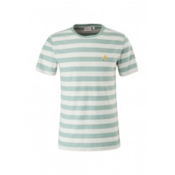 T-shirt rayé avec broderie by s.Oliver Red Label