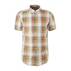Slim Fit: chemise à manches courtes by s.Oliver Red Label