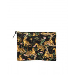 Cosmetic bag BLACK LAZY JUNGLE by WOUF