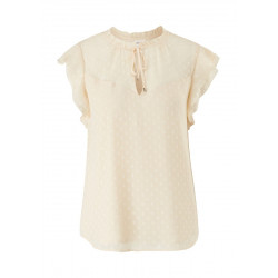 Short sleeve blouse made of Plumetis by s.Oliver Black Label