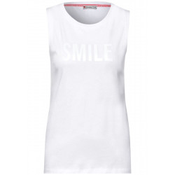 Top with wording print by Street One