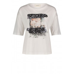 Print shirt with sequins by Cartoon