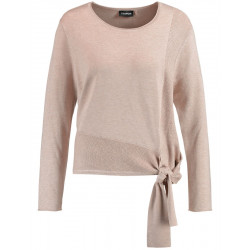 Sweater with decorative bow by Taifun