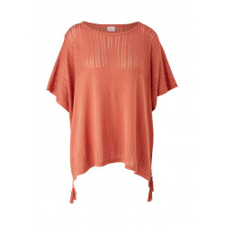 Poncho mit Ajourmuster by s.Oliver Red Label