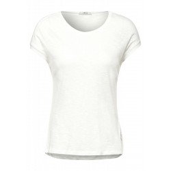 T-Shirt in Unifarbe by Cecil