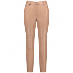 Trousers in leather look by Samoon