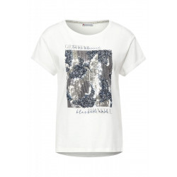 T-shirt with part print by Street One