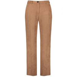 Greta trousers with suede look by Samoon