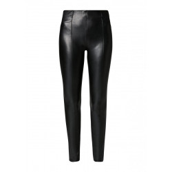 Leather-look trousers by Comma