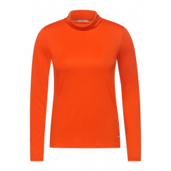 Cupro Turtleneck T-Shirt by Cecil