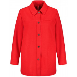 Jacket with button placket by Samoon