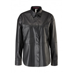 Leather-look shirt blouse by Q/S designed by