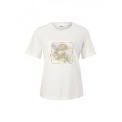 Shirt with satin print by s.Oliver Black Label