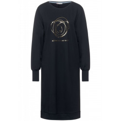 Sweat dress with part print by Street One